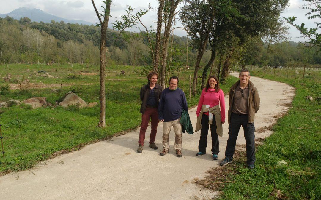 VISITA A PLANESES DE TÈCNICS DEL SERVEI TERRITORIAL DEL DEPARTAMENT D'AGRICULTURA DE GIRONA